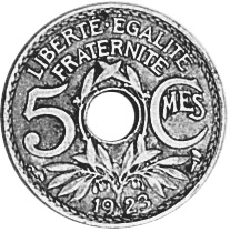 France 5 Centimes reverse