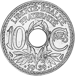 France 10 Centimes reverse