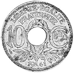 France 10 Centimes reverse