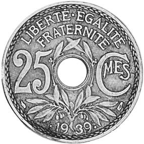 France 25 Centimes reverse