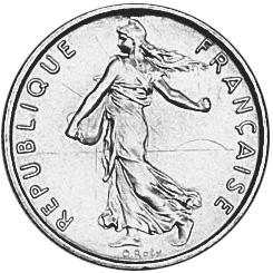 France 1/2 Franc obverse