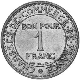 France Franc obverse