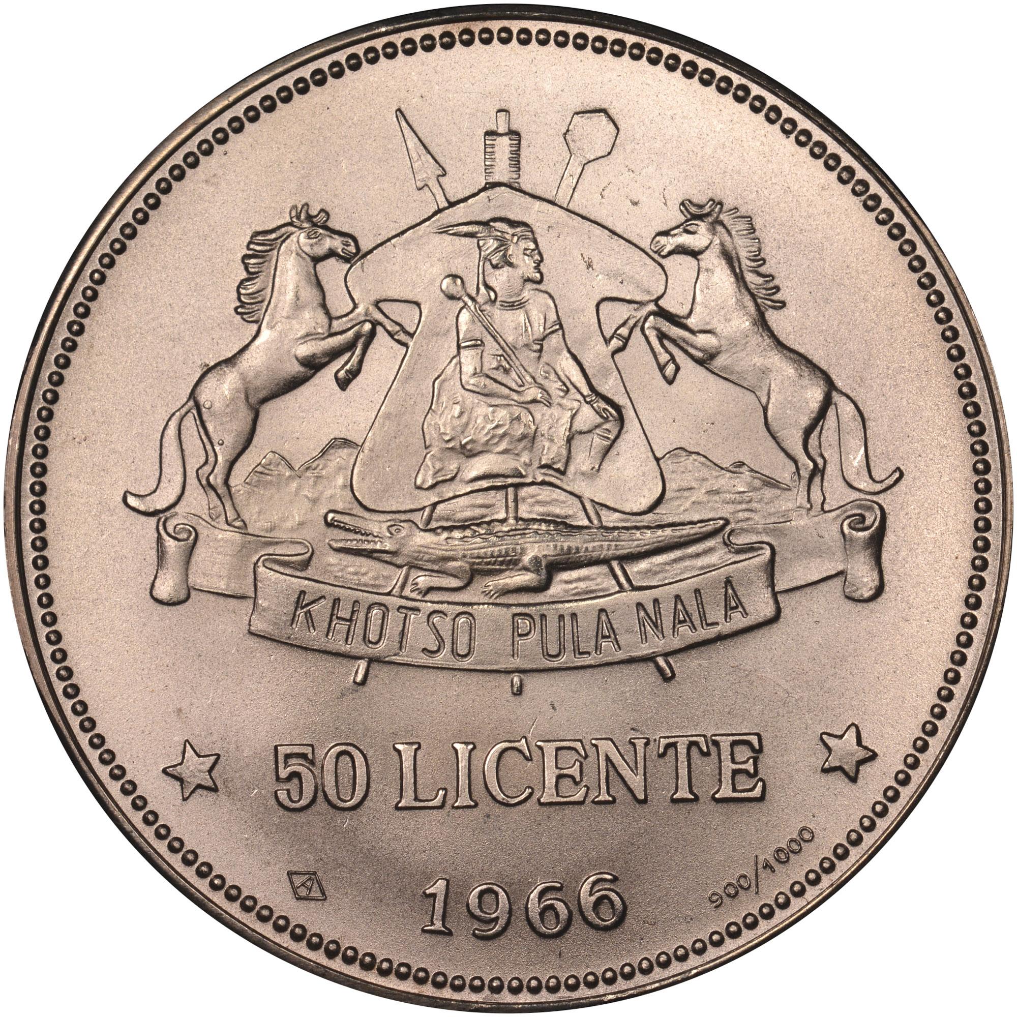 Lesotho 50 Licente reverse