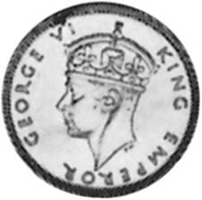1939-1944 Seychelles 25 Cents obverse