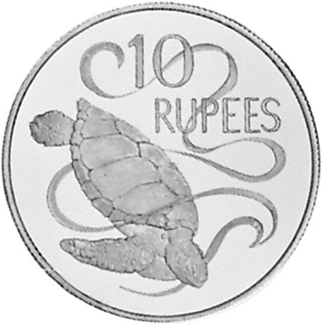 Seychelles 10 Rupees reverse