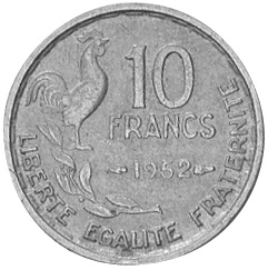 France 10 Francs reverse