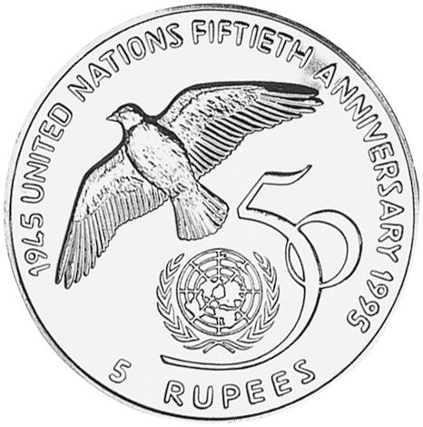 Seychelles 5 Rupees reverse