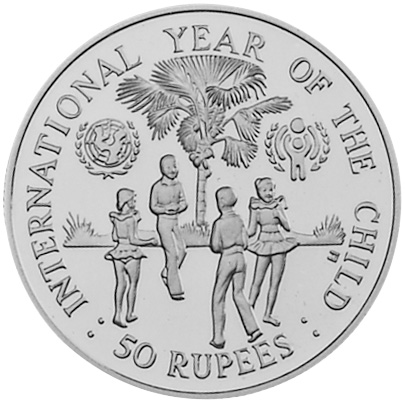 Seychelles 50 Rupees reverse