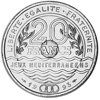 France 20 Francs reverse