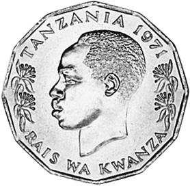 Tanzania 5 Senti obverse