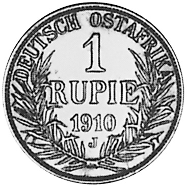 German East Africa Rupie reverse