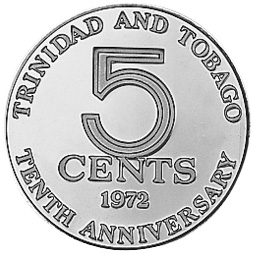 Trinidad & Tobago 5 Cents obverse