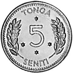 Tonga 5 Seniti reverse