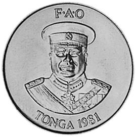 Tonga 10 Seniti obverse