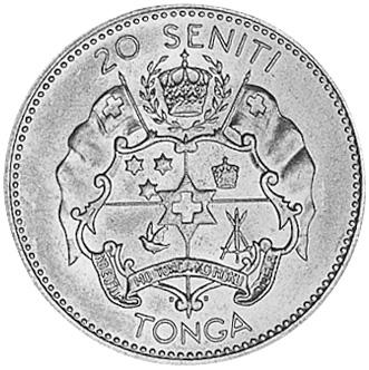 Tonga 20 Seniti reverse