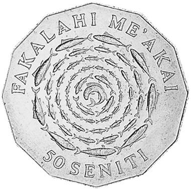 Tonga 50 Seniti reverse