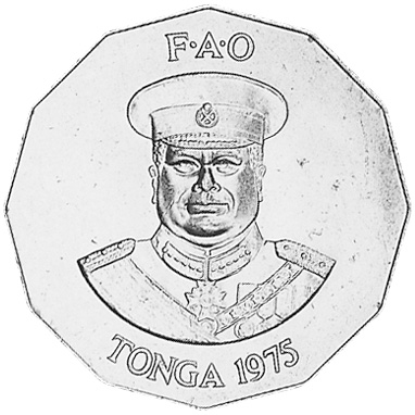 Tonga 50 Seniti obverse