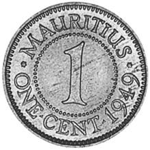 Mauritius Cent reverse