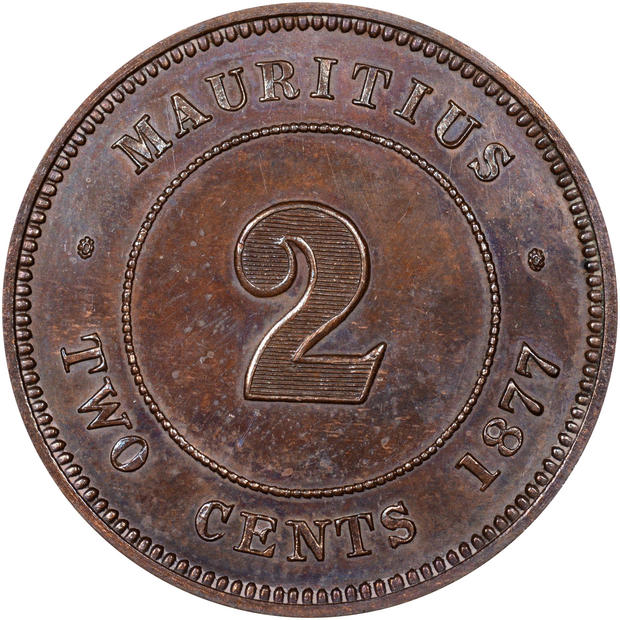 Mauritius 2 Cents reverse