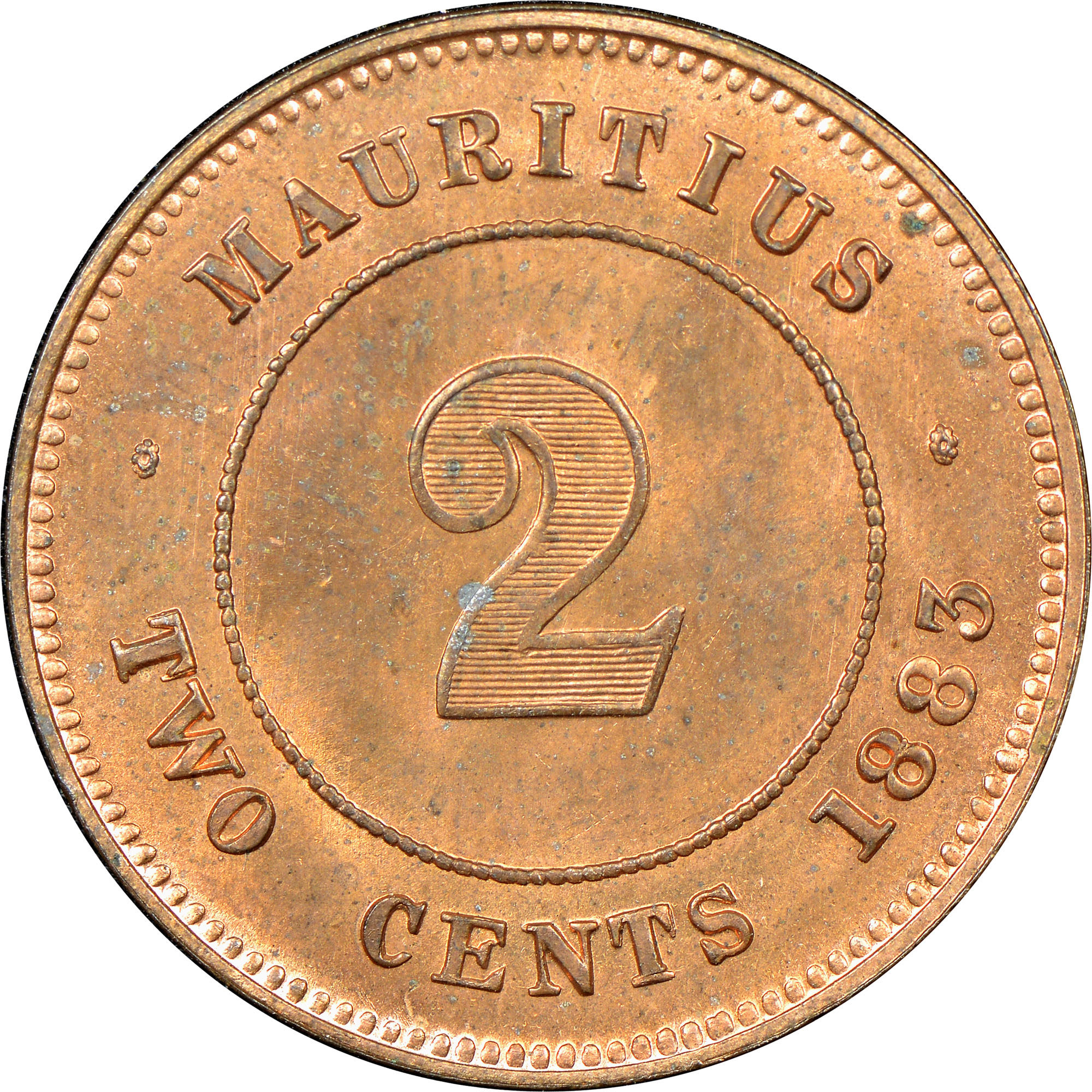 Mauritius 2 Cents Km 8 Prices Values Ngc