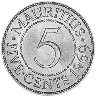 Mauritius 5 Cents reverse