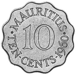 Mauritius 10 Cents reverse