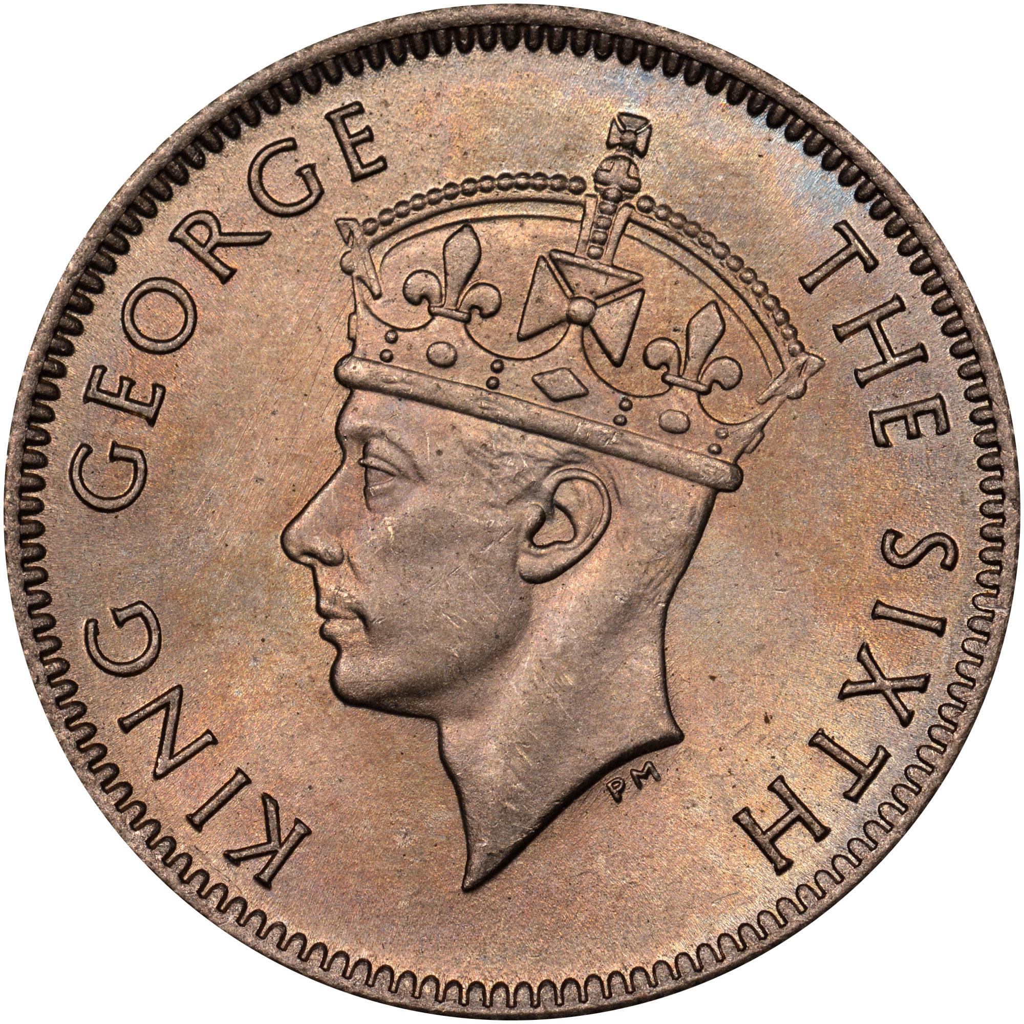 Mauritius 1/4 Rupee obverse