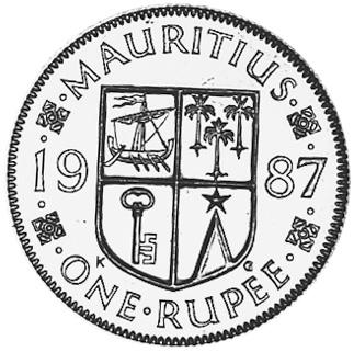 Mauritius Rupee reverse