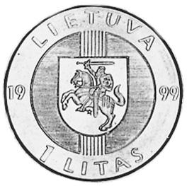 Lithuania Litas obverse