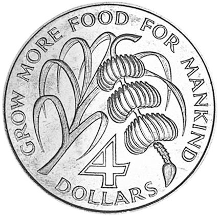 Saint Lucia 4 Dollars reverse
