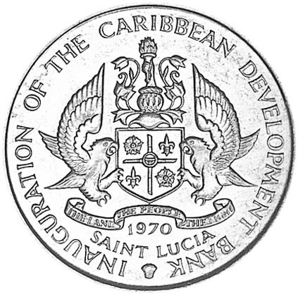 Saint Lucia 4 Dollars obverse