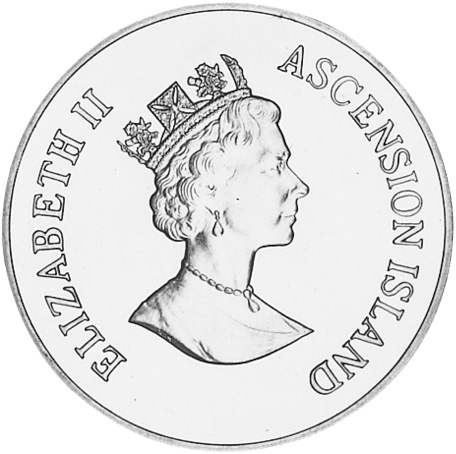 Ascension Island 50 Pence obverse