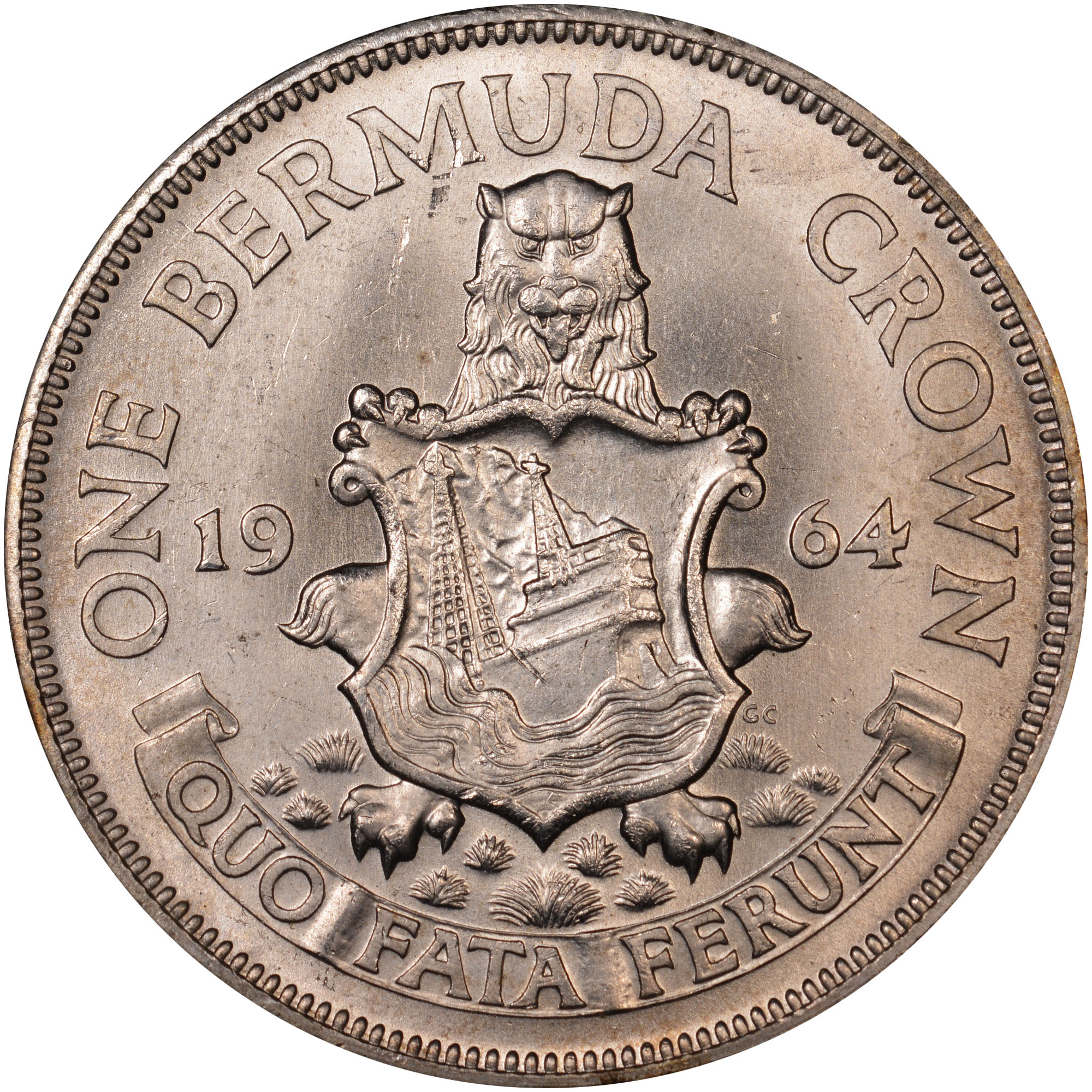 1964 Bermuda Crown reverse
