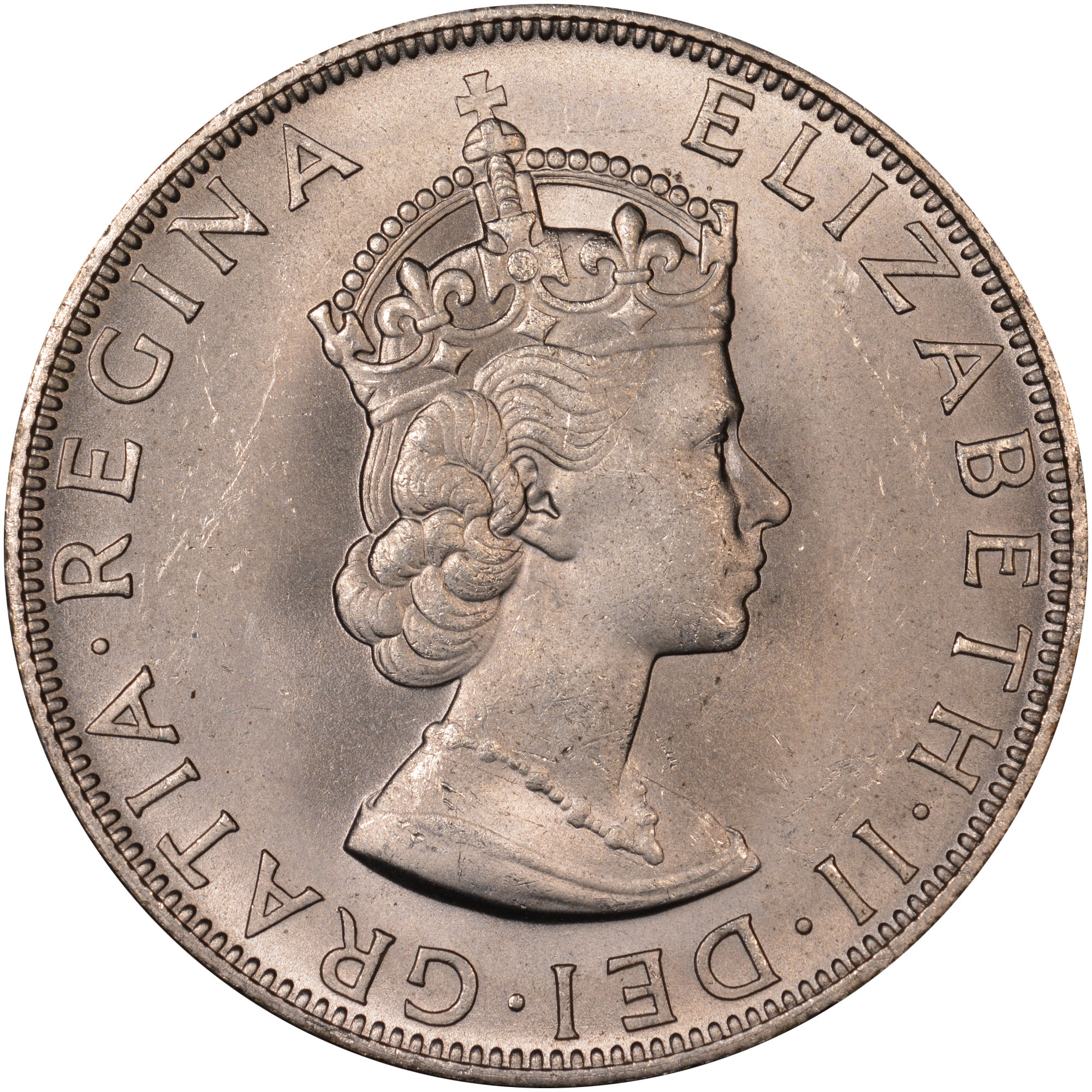 1964 Bermuda Crown obverse