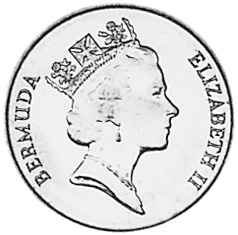 1991-1998 Bermuda Cent obverse