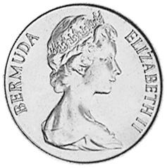 1970-1985 Bermuda 5 Cents obverse