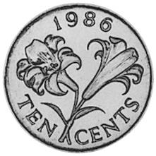 Bermuda 10 Cents reverse
