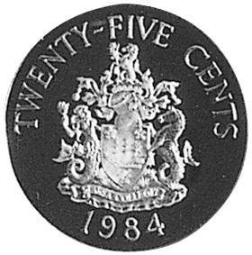 Bermuda 25 Cents reverse