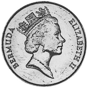 Bermuda 25 Cents obverse