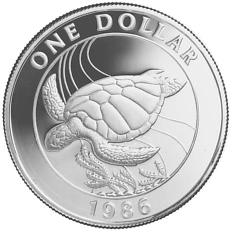 1986 Bermuda Dollar reverse