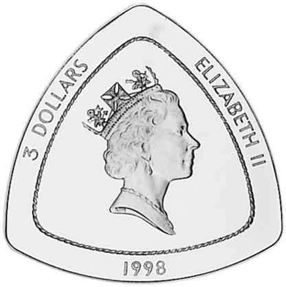 1998 Bermuda 3 Dollars obverse