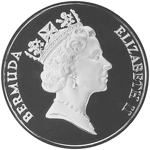 1987 Bermuda 5 Dollars obverse