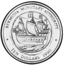 1990 Bermuda 10 Dollars reverse