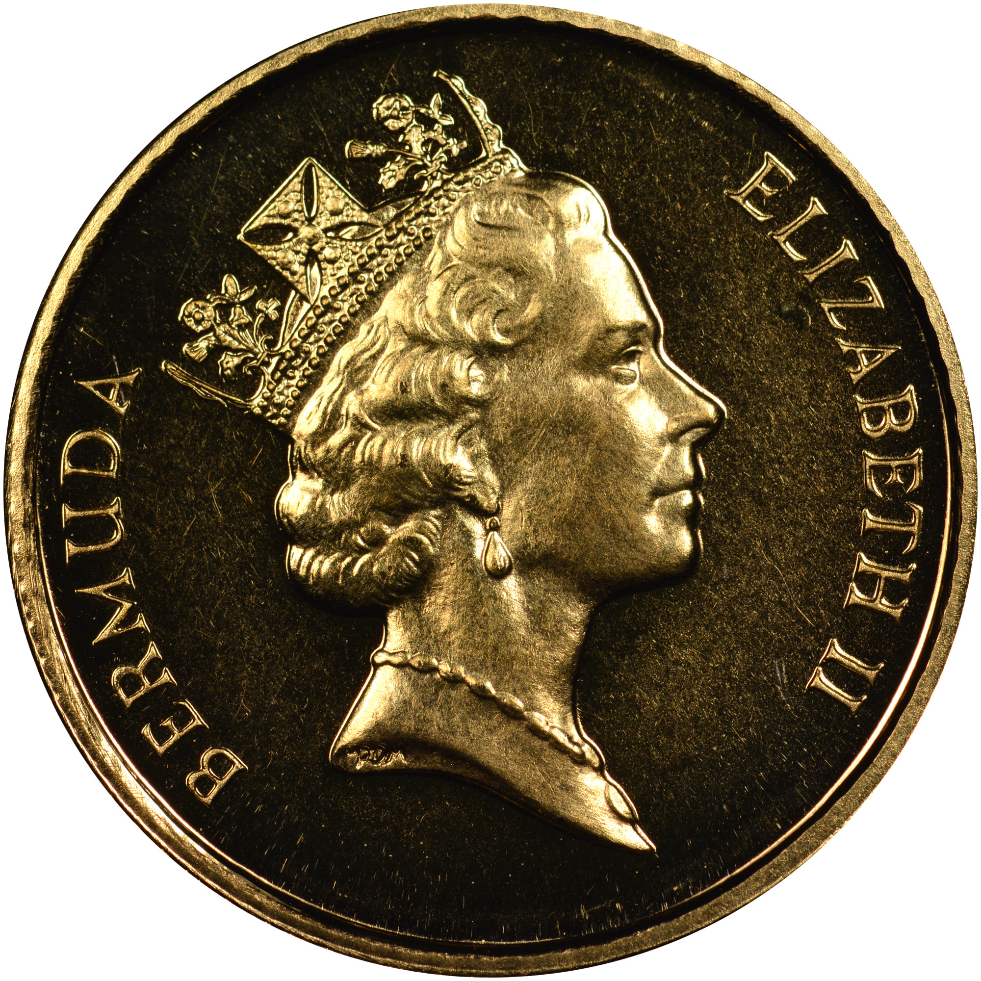 1992 Bermuda 10 Dollars obverse