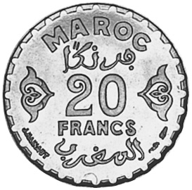 Morocco 20 Francs reverse