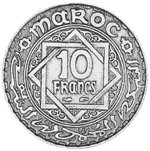 Morocco 10 Francs reverse
