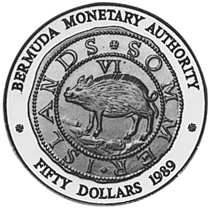 1989 Bermuda 50 Dollars obverse