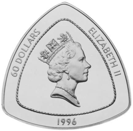 1996 Bermuda 60 Dollars obverse