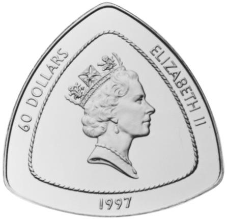 1997 Bermuda 60 Dollars obverse