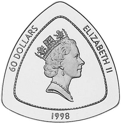 1998 Bermuda 60 Dollars obverse